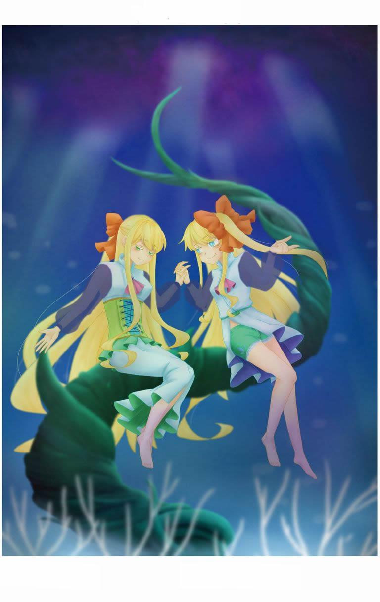 海中の魔法園イラスト